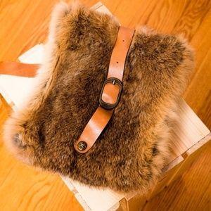 Patricia Nash Crossbody Fur and Leather Bag